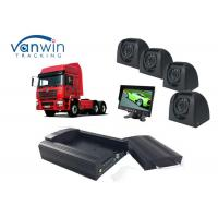 Cheap Taxi CCTV Wifi Bus 4 Camera Car DVR 4CH 3G Live Video Tracking with GPS for sale
