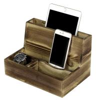 Mens Cell Phone Wooden Charging Station For Desk Sundries Customized Color