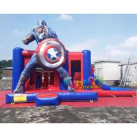 China Water - Proof Inflatable Bouncer Slide , Air Sewing Captain Moon Bounce Combo Slide Structure on sale