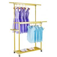 Best H152 Adjustable Rolling Foldable Clothes Drying Rack With Golden Powder Coating wholesale