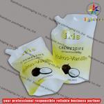 Best PE/PET side spout pouch packaging with bottom gusset,liquid bag wholesale