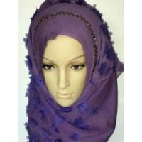Best Embroidery Silk Hijab Scarf (LC-C055) wholesale