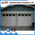 Hurricane resistance 40mm insulated panel sectional overhead garage door with