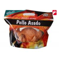 Buy cheap Roast Chicken Plastic Zipper Pouch Stand Up Bottom Gusset Bag With Lamination from wholesalers
