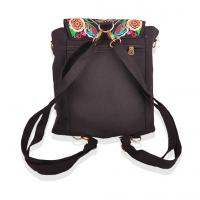 Best 2016 new design peony flower colorful enthnic embroidery backpack form factory wholesale
