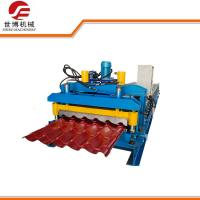 Best 1100 Aluminum Glazed Tile Roll Forming Machine Automatically 10-12MPa Hydraulic Pressure wholesale