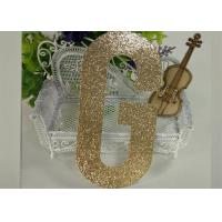China Die Cut Gold Decorative Glitter Paper Letters For Banner And Cake Topper on sale