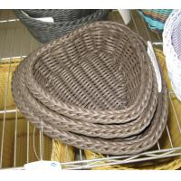 Best High Quality PP Rattan Heart Shape Storage Basketry wholesale