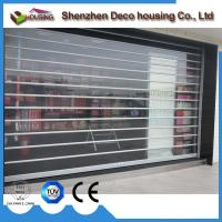 Best automatic transparent PVC roller shutter with High Elastic and impact security protection and good view display wholesale