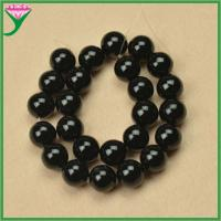 Best wholesale 16mm loose polishing natural ball shape black agate stone for jewelry making wholesale