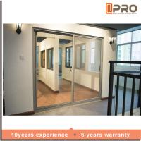 China Multi Color Aluminium Sliding Glass Doors For Living Room With Security Bifold sliding door chinese sliding door on sale