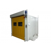 Best Powder Coated Steel Automatic PVC Quick Roll Up Door Air Shower Tunnel wholesale
