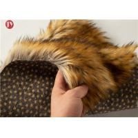China Animal Jacquard Extra Long Pile Faux Fur Fabric Raccoon Upholstery Sewing Crafts Fiber on sale