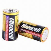 China 1.5V D/LR20 Size Alkaline Batteries, Used in Flashlights, Radios and Toys on sale