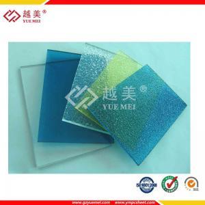 Best UV protected 2mm-6mm clear/blue/orange polycarbonate embossed sheet wholesale