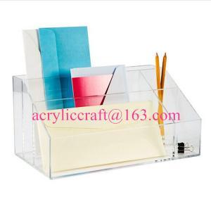 Best Factory acrylic office suppliers clear acrylic desktop organizer wholesale