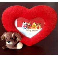 Best Cute Plush Toys, Heart Photo Frame with little dog. wholesale