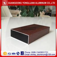 China Wood grain aluminum square tubes,aluminum square hollow tube,aluminum extrusion profilemanufacturer on sale
