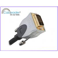 Best Metal casing, PE insulation, triple shielded DVI-D / DVI Monitor Cables 24 + 1 pin wholesale