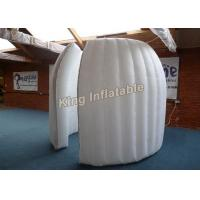 China White 2M Internal Diameter Inflatable Pod-Clamshell ,  Inflatable Exhibition Tent on sale