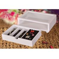 Best Cute White Wooden Jewelry Organizer Box, Customized Jewelry Gift Boxes wholesale
