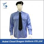 Best Soft CVC Twill Security Guard Uniform Shirts / Long Sleeve Dress Shirt , OEM / ODM Service wholesale