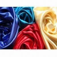 Best Silk Satin Fabric with 114 or 140cm Width, Available in Various Colors wholesale