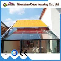 Best Modern design remote control skylight awning/conservatory canopy/motorized sunroom roof awning wholesale