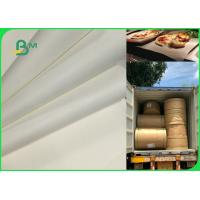 Best 70gsm 120gsm Food Grade Uncoated White Bleached Kraft Paper FDA EU SGS Certified wholesale