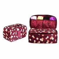 China Fashionable Bra And Panty Travel Case / Portable Travel Lingerie Organizer Bag on sale
