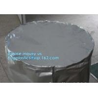 Best Round Bottom Heavy Duty Plastic Bags Chemical Resistant Cylinder Drum Barrel Liners wholesale