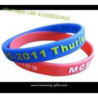 Buy cheap Wholesale Colorful Silicone Wristband/bracelt for Promotional Advertising Gift from wholesalers