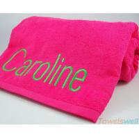 China Monogrammed Beach Towels Lint Free Ultra Soft  Drying fast Super Absorbent on sale