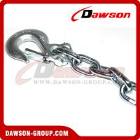 China G43 Trailer Safety Chains Assembly with Slip Clevis Hook & Latch on sale