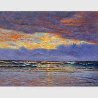 Best Impressionism Claude Monet Oil Paintings Reproduction Sunrise Seascape Oil Paintings wholesale