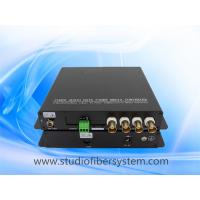 aluminum case 4CH 720P 1080P AHD video fiber converter with RS485 for PTZ control,20KM,FC/SC/LC/ST selectable,no delay