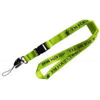 China Colorful Embroidery Logo Printed Lanyard With Metal Hook  Plastic Buckle on sale