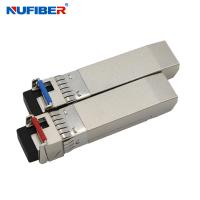 Best SM Bidi LC 10ge SFP+ Transceiver Module 20km No Reference Clock Required wholesale