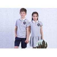 China Plain Fabric Middle School Uniforms Moisture Wicking Breathable For Teenagers on sale