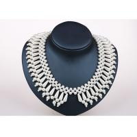 Best 16 Inch Handcrafted Pearl Jewelry , Personalized Silver Handmade Necklace Jewelry wholesale