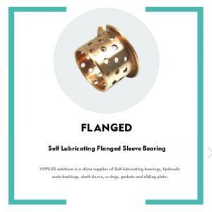Best Wrapped Bronze Bushing,  Flanged Size lubrication pockets wholesale