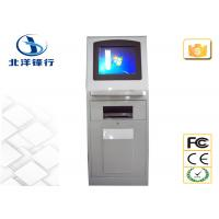China Info LCD Self Service Printing Kiosk Coupon / Queue Kiosk With Ultra Big Roll Holder on sale
