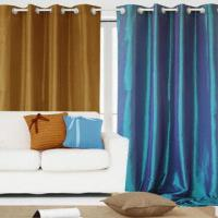 Buy cheap 100% Polyester Window Curtain with 8 Grommets or 8 Loops from wholesalers