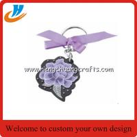 Best Soft enamel metal keychain,flower metal gift keychain with key chains design wholesale