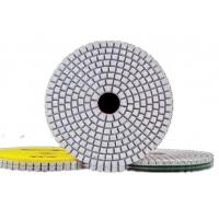 China High Efficiency Diamond Polishing Pads , 4 Inch 3 Step Diamond Granite Polishing Pads on sale