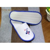 China Indoor Guest Disposable Hotel Slippers Ladies White Waffle Slippers on sale