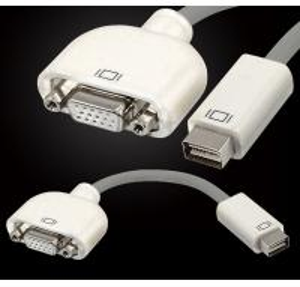 China Mini DVI Male to VGA Female Adapter Convertor for Apple MacBook Display Monitor on sale