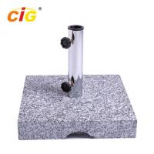 Best 25kg Outdoor Parasol Granite Umbrella Stand , Square Marble Umbrella Base wholesale