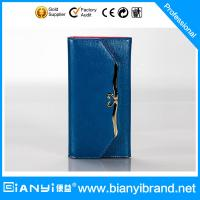Best wholesale fashion brand folding genuine women leather wallet for lady wholesale