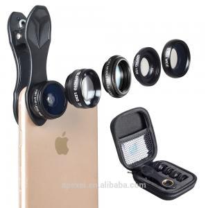 China Detachable Mobile Phone Camera Lens 5 In 1 Optics Fixed Focus Lens Kit on sale